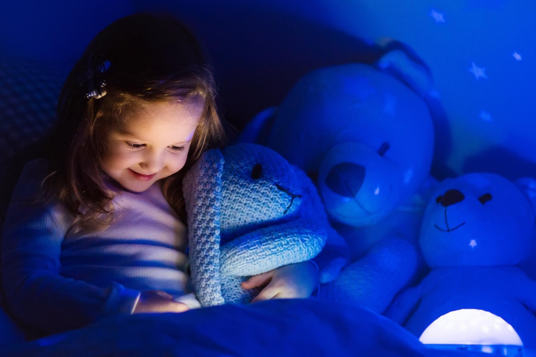 """Kuscheltier /""""MAUS/"""" mit LED-Nachtlicht Schlummer-Licht mit Schlafliedern"""